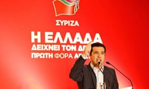 Alexis Tsipras of the Syriza party