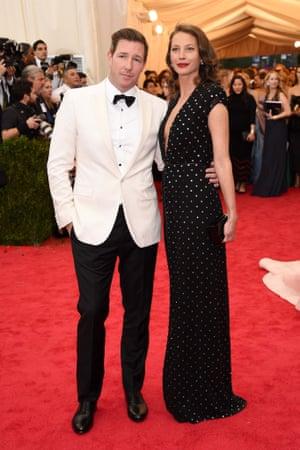 Actor Edward Burns and model Christy Turlington