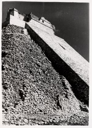 Untitled (Pyramid of the Magician, Uxmal, Mexico), 1952.