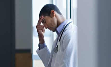 anxious doctor