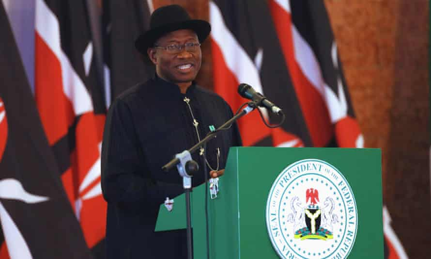 Nigeria's president Goodluck Jonathan on Monday 5 May.