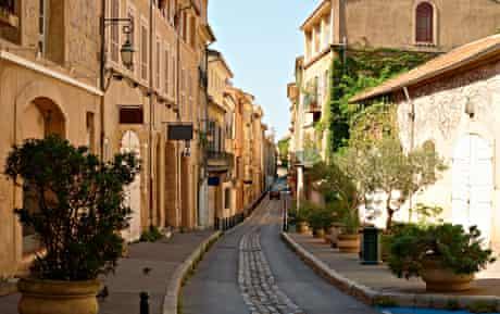 The old quarter of Aix-en-Provence.