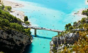 St Croix lake and Verdon River in Provence