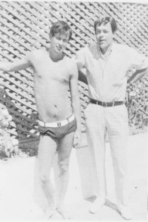 Joe Orton with Kenneth Halliwell in Morocco 1967
