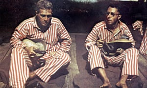 Steve McQueen and Dustin Hoffman in the film of Papillon.