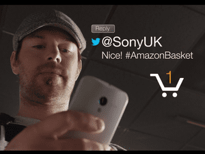 A still from Amazon's promotional video for #AmazonBasket