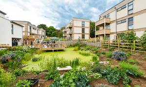 The Lilac co-housing development in Leeds is planned around a communal garden area.