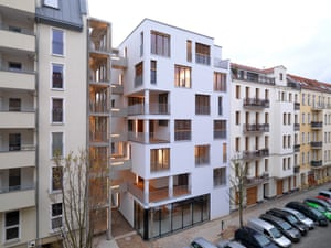 The E_3 development in Prenzlauer Berg, Berlin, is the result of a baugruppe, or building group.