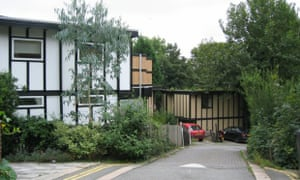Walter Segal's self-build housing at Honor Oak Park in Lewisham.