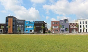 Go Dutch? … A street of self-build houses in the Homeruskwartier of Almere, the Netherlands.
