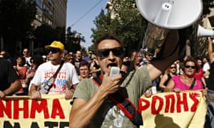 Anti-austerity protests in Athens, Greece.