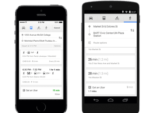 Google Maps app updated to include Uber integration