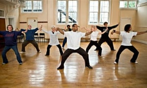 Older people doing tai chi – the answer to combating loneliness lies in the community