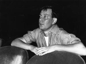 Joe Orton watching a rehearsal of his play Entertaining Mr Sloane