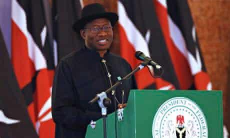 Nigeria's President Goodluck Jonathan