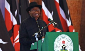 Nigeria's president Goodluck Jonathan, who has accepted the UK's offer of assistance in the hunt for