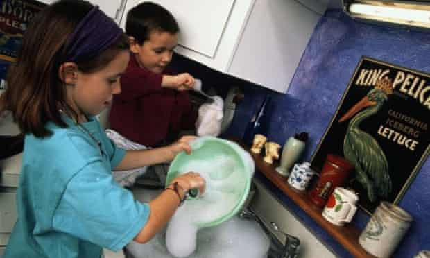 Washing up doesn't have to be women's work.