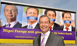 Ukip campaign campaign poster with Nigel Farage