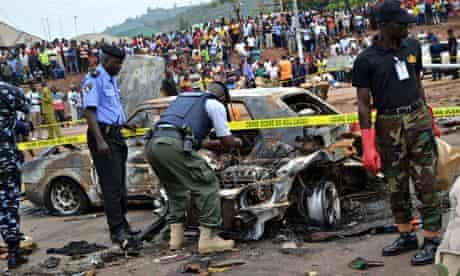 Bomb damage at Nyanya bus station
