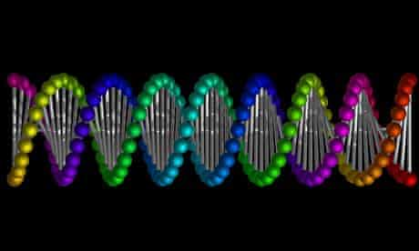 DNA double helix. Image shot 2012. Exact date unknown.