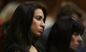 Kim Myers in court during the murder trial of Oscar Pistorius on Tuesday.
