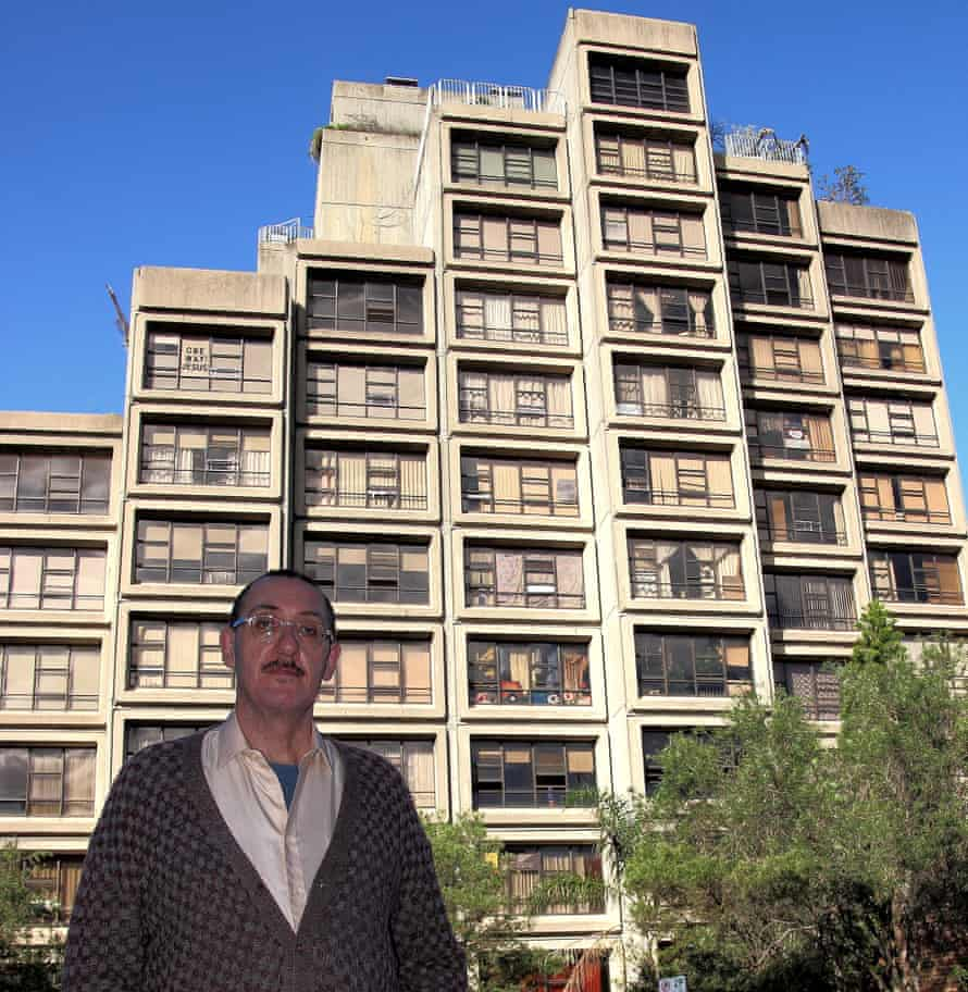 Owen McAloon in front of the Sirius building
