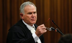 Defence lawyer Barry Roux during the trial of Oscar Pistorius.
