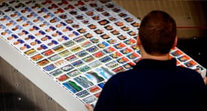 Panini: A labourer works at the assembly line of Panini's factory