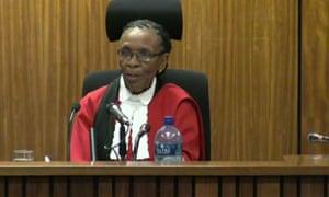 Judge Thokozile Masipa presiding over the trial of Oscar Pistorius.