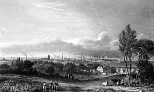 A view of Manchester in 1844 by Thomas Higham.