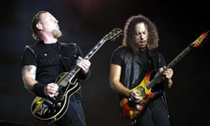 Metallica - James Hetfield, left and Kirk Hammett.