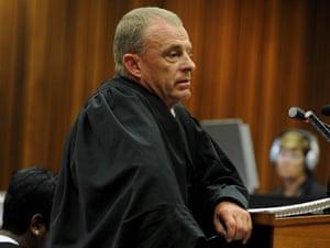 State prosecutor Gerrie Nel during the murder trial of Oscar Pistorius on Thursday.