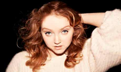 Lily Cole in rehearsals for The Last Days of Troy