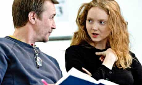 Last Days of Troy director Nick Bagnall and actor Lily Cole in Manchester.