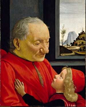 An Old Man and his Grandson by Domenico Ghirlandaio