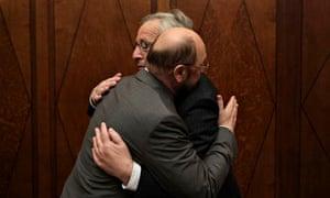 Martin Shulz Jean-Claude Juncker