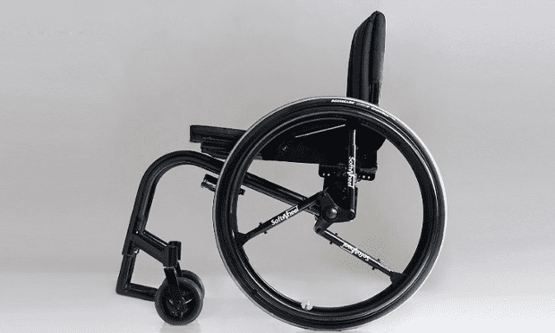 SoftWheel … Revolutionary new wheel incorporates shock-absorbing compression cylinders to give users a smoother ride.