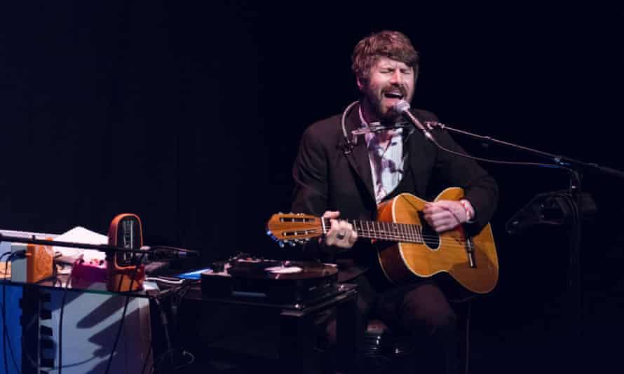 Gruff Rhys performing in London, May 2014.