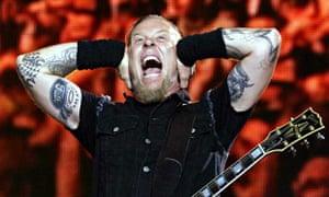 Metallica in concert James Hetfield
