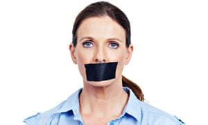 Woman with a gag