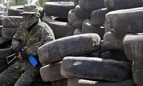 Pro-Russian separatist in Konstantinovka