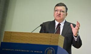 EU-Commission President Barroso speaks in Berlin on Future of Europe