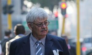 Tom Wolmarans, forensics expert, arrives for the Oscar Pistorius trial on Thursday.