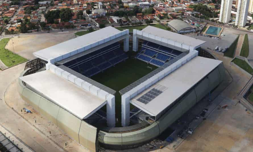 The Arena Pantanal stadium where a construction worker has been electrocuted during World Cup 2014 preparations.