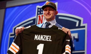 0ed5b5ae NFL Draft 2014: Johnny Manziel lands with Cleveland Browns - as it ...