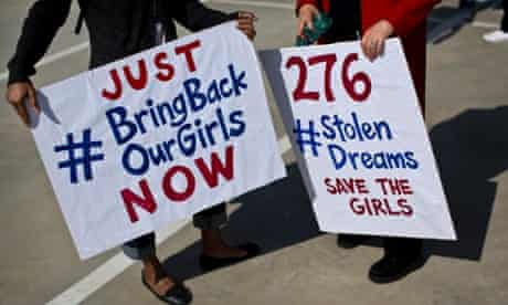 #BringBackOurGirls protest outside the Nigerian consulate in South Africa.