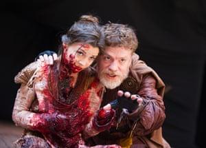 Flora Spencer-Longhurst (Lavinia) and William Houston (Titus)