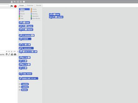 A screenshot Scratch
