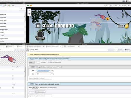 Screenshot of GameSalad Creator