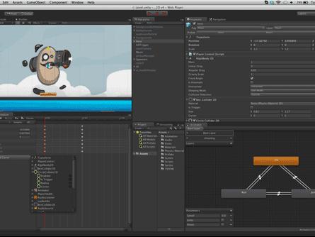 Screenshot of game engine Unity